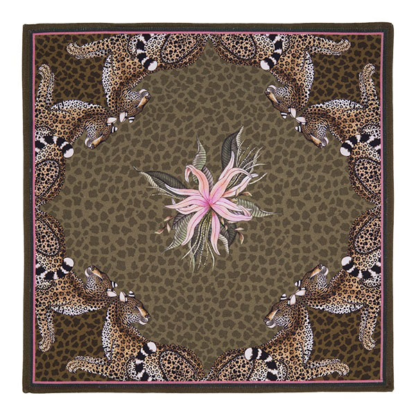 Набор салфеток Ardmore Leopard Lily Napkins in Safari 2шт. AL-Napkin