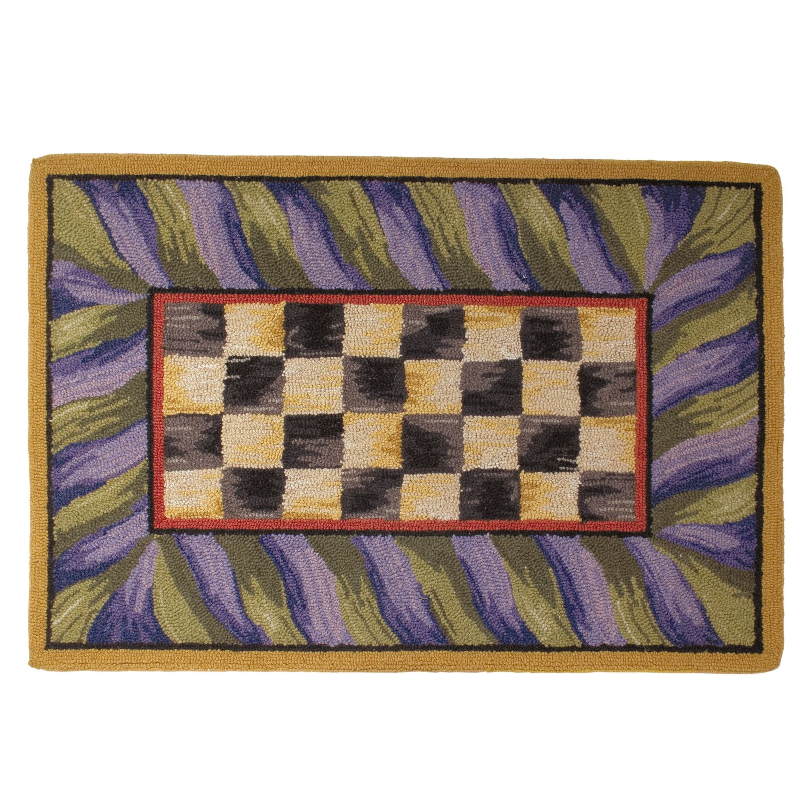 Ковер 61х91 см Courtly Check Purple & Green 350-08013