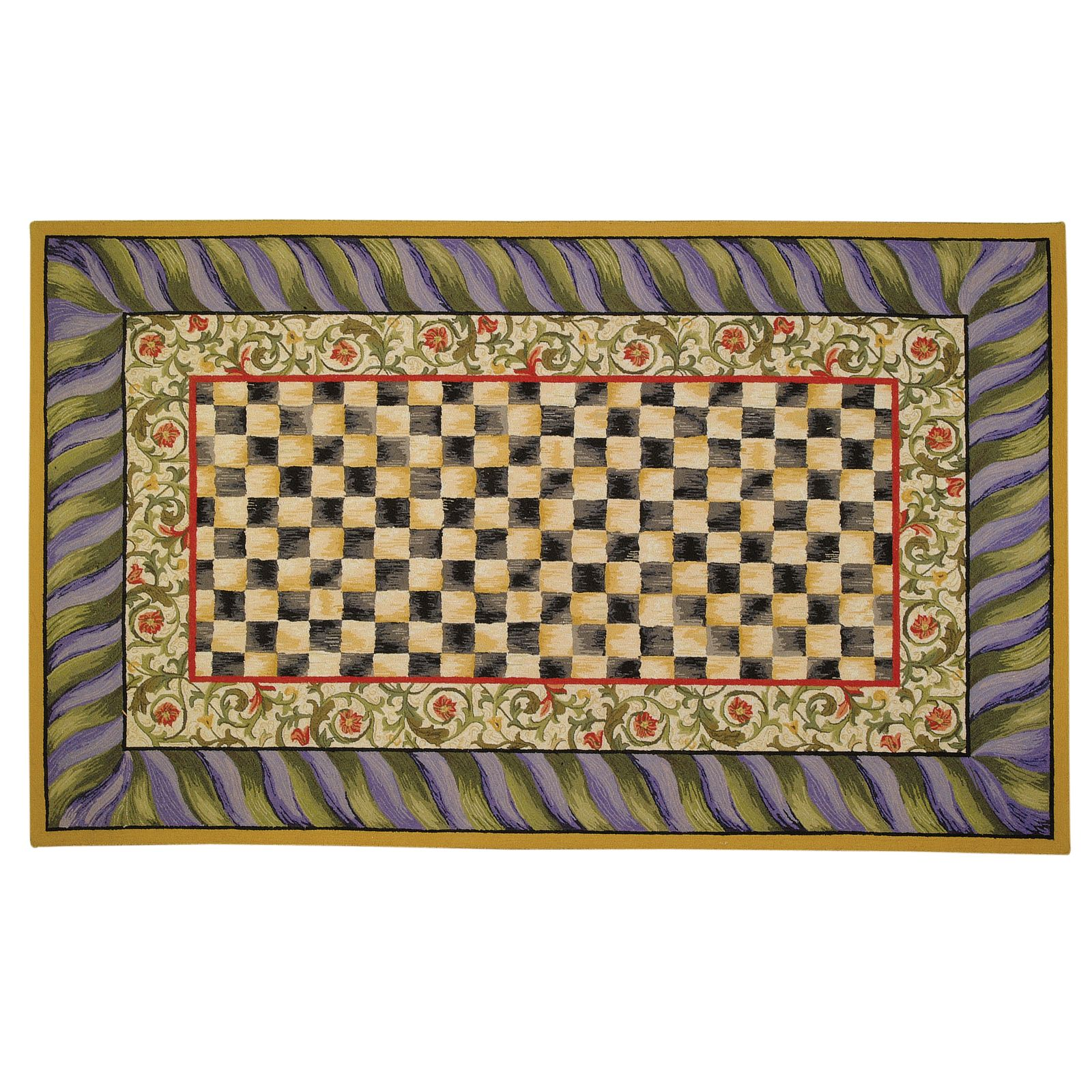 Ковер 152х244 см Courtly Check Purple & Green  350-08071