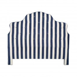 Изголовье кровати Marquee Chenille Navy Stripe - Queen 242-8306