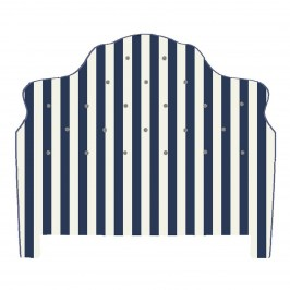 Изголовье кровати Marquee Headboard - Chenille Navy Stripe - King 242-8307