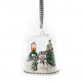 Елочная игрушка Happy Holidays Snowman Cloche 53913-1574