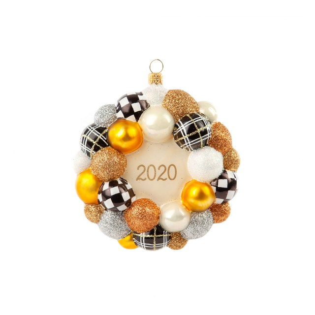 Елочная игрушка 2020 Bauble Wreath Golden Hour 53913-2110