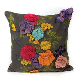 Подушка Covent Garden Floral Square Pillow - Grey 75759-082