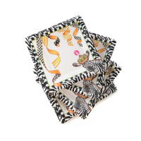 Тарелки бумажные 18Х18 Salad/Dessert Different Stripe 32905-0672