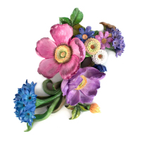 Настенный декор Wall Art - Blue Flower Market 35514-1433