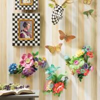 Настенный декор Wall Art - Aqua Flower Market 35514-1434