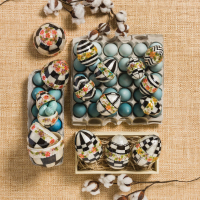 Набор пасхальных яиц 4 шт. Black & White Floral 35517-017