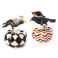 НАБОР ДЕКОРАТИВНЫХ ФИГУР 2 ШТ. crowned crow pumpkins 35517-4148