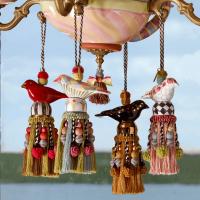 Кисть декоративная Bird Red & Gold 35753-650