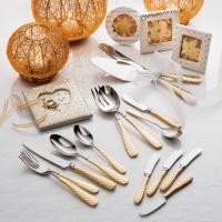Сервировочные лопатка и нож для торта Gold Check 37271G