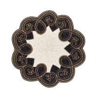 Салфетка под тарелку Arabesque Beaded - Black 72562-005