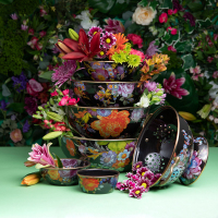 Салатник малый черный Flower Market 892031-70