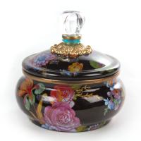 Горшочек с крышкой черный Flower Market 89223-70