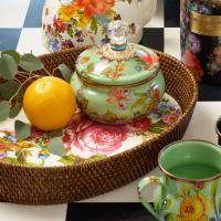 Горшочек с крышкой зеленый Flower Market 89223-90
