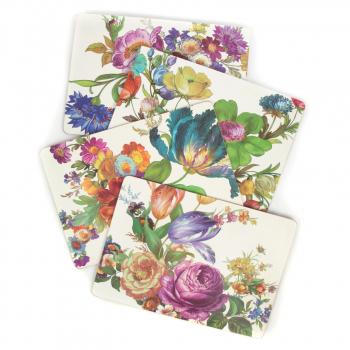 Набор подставок под тарелки 4 шт. пробка Flower Market 32612