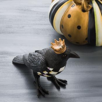 Декоративная фигура Crowned Crow Courtly Check 35509-012