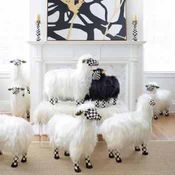 Декоративная фигура White Sheep - Large Courtly Check 35514-1412