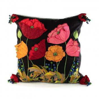 Подушка Poppy Square - Black 75759-0010