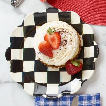 Тарелка десертная «Лепесток» 20 см Courtly Check 89217-40S